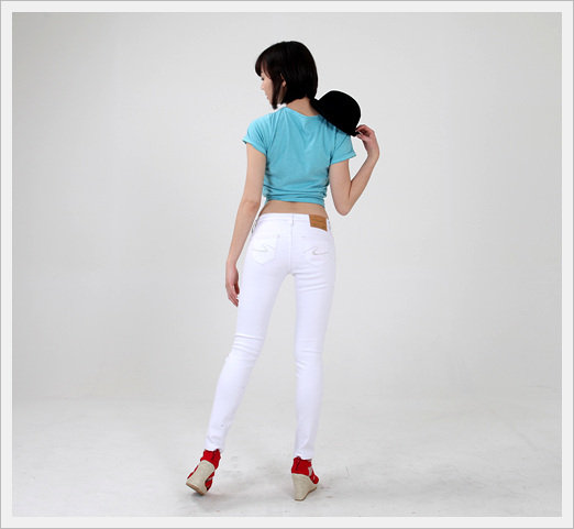 [Mido Industry] White Skinny Jeans